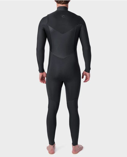 Dawn Patrol Performance 3/2 Chest Zip Wetsuit in Charcoal