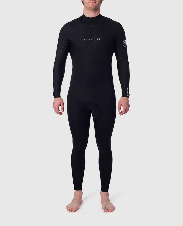 Dawn Patrol Plus 3/2 Back Zip Wetsuit in Black