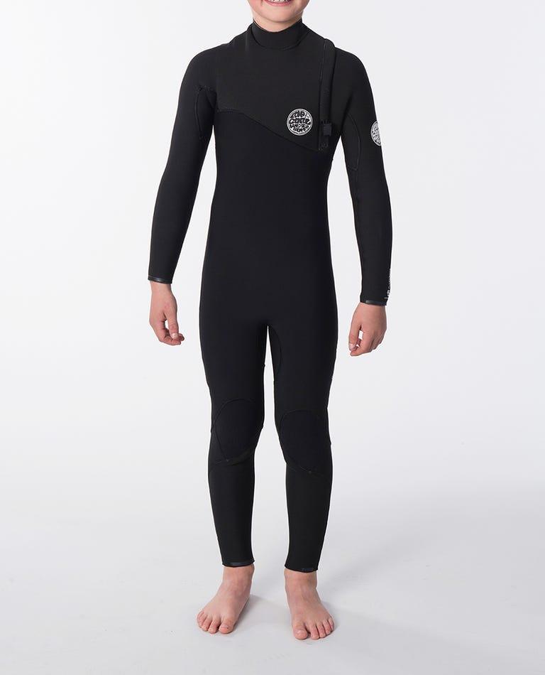 Boys Flashbomb 3/3 Zip Free Wetsuit in Black