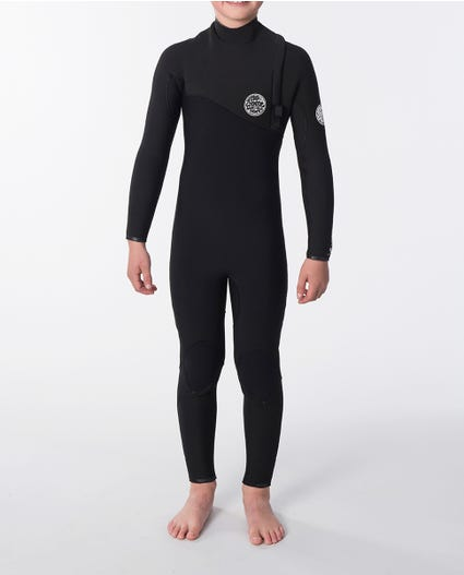 Boys Flashbomb 3/3 Zip Free Wetsuit in Black