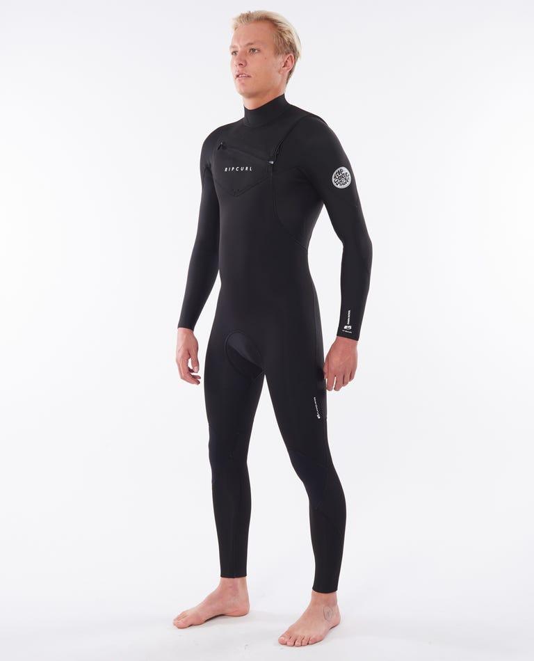 Dawn Patrol Performance 4/3 Chest Zip Wetsuit in Black