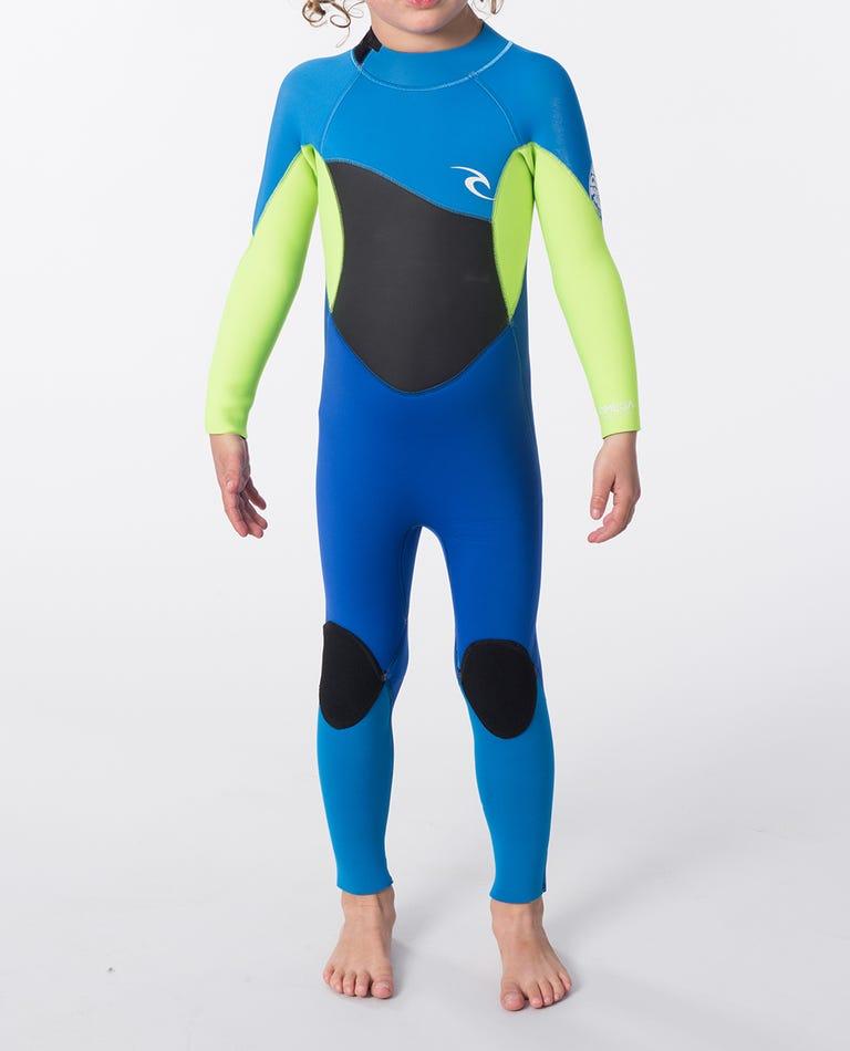 Groms Omega 3/2mm Full Length Wetsuit Steamer in Light Blue