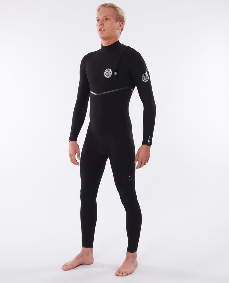 E-Bomb 4/3 Chest Zip Wetsuit in Black