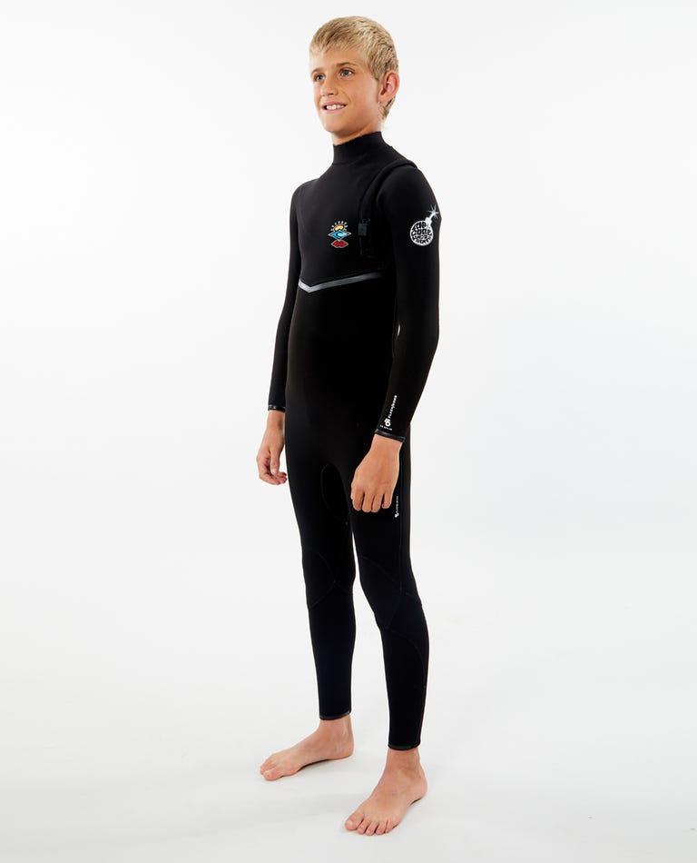 Junior Flashbomb 3/2 Zip Free Wetsuit in Black