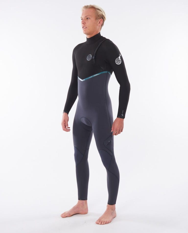 E-Bomb 4/3 Zip Free Wetsuit in Charcoal Grey
