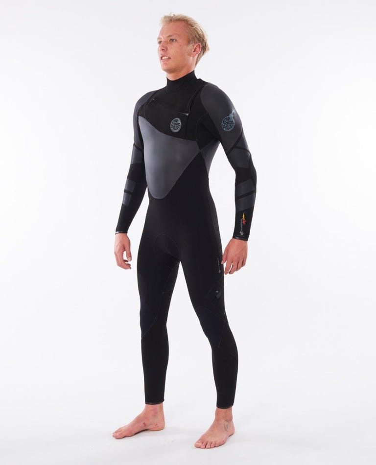 Flashbomb Heatseeker 4/3 Chest Zip Wetsuit in Black