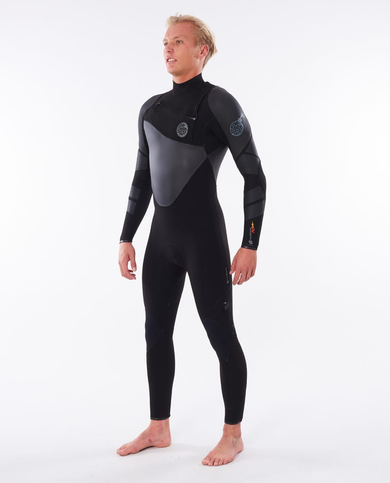 Flashbomb Heatseeker 4/3 Chest Zip Wetsuit in Black