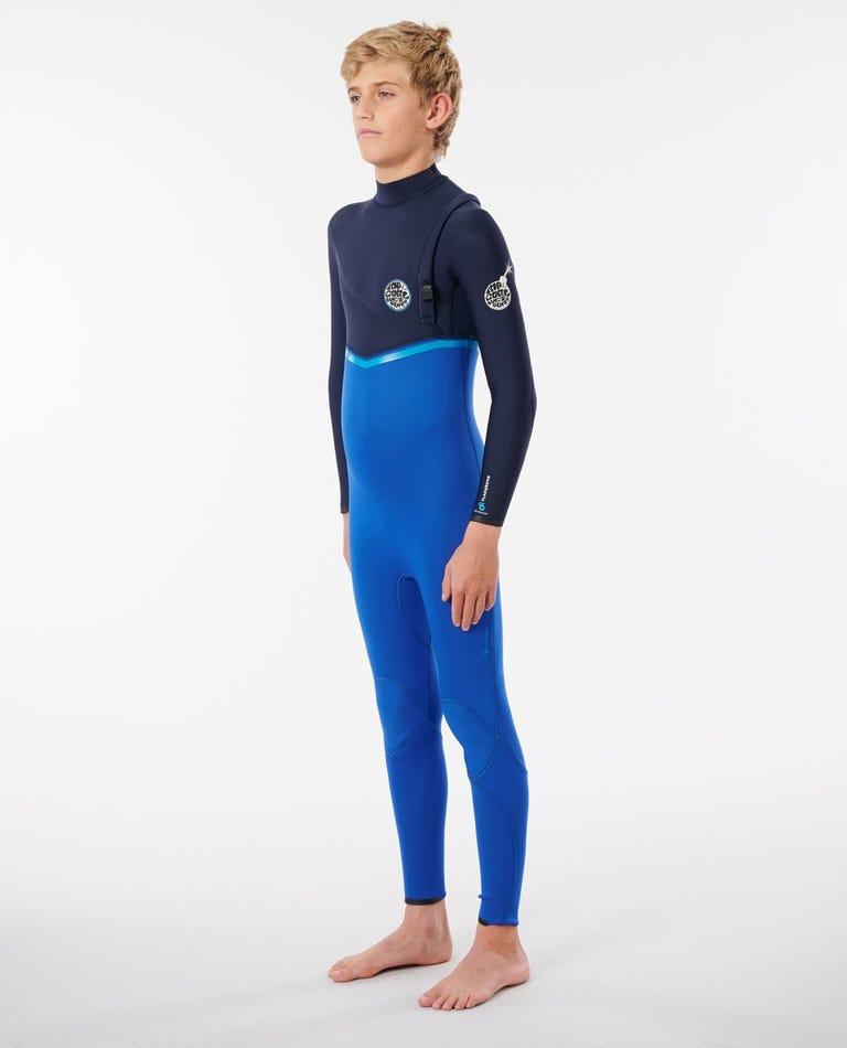 Junior Flashbomb Zip Free Wetsuit in Blue
