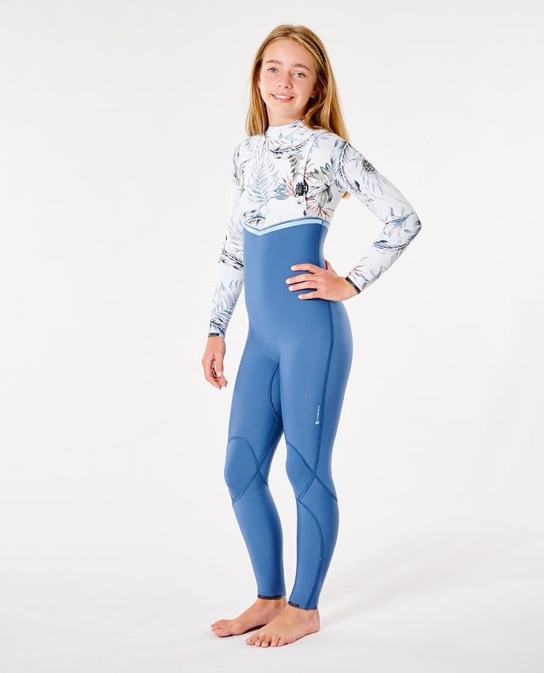 Junior Flashbomb 4/3 Zip Free Wetsuit in Slate Blue