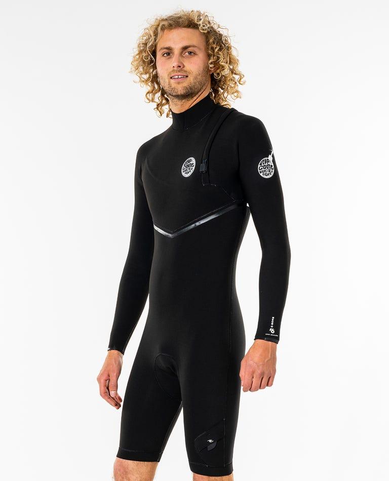 E-Bomb 2/2 GB Sealed Zip Free Long Sleeve Springsuit Wetsuit in Black