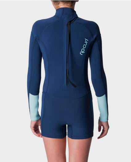 Girls Dawn Patrol Springsuit in Navy