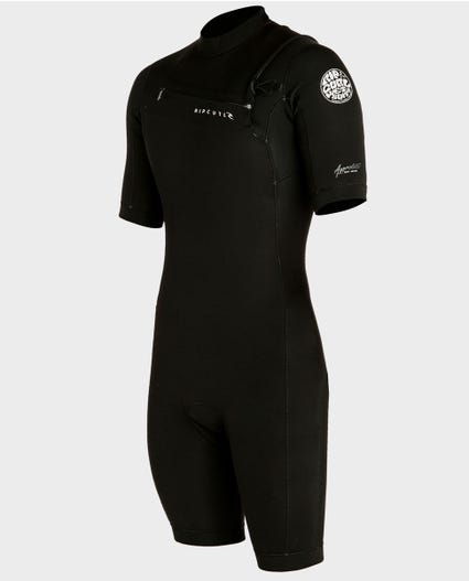 Aggrolite S/S Chest Zip Springsuit in Black