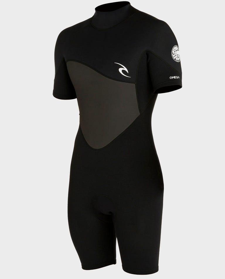 Omega 1.5mm S/S Springsuit Wetsuit in Black