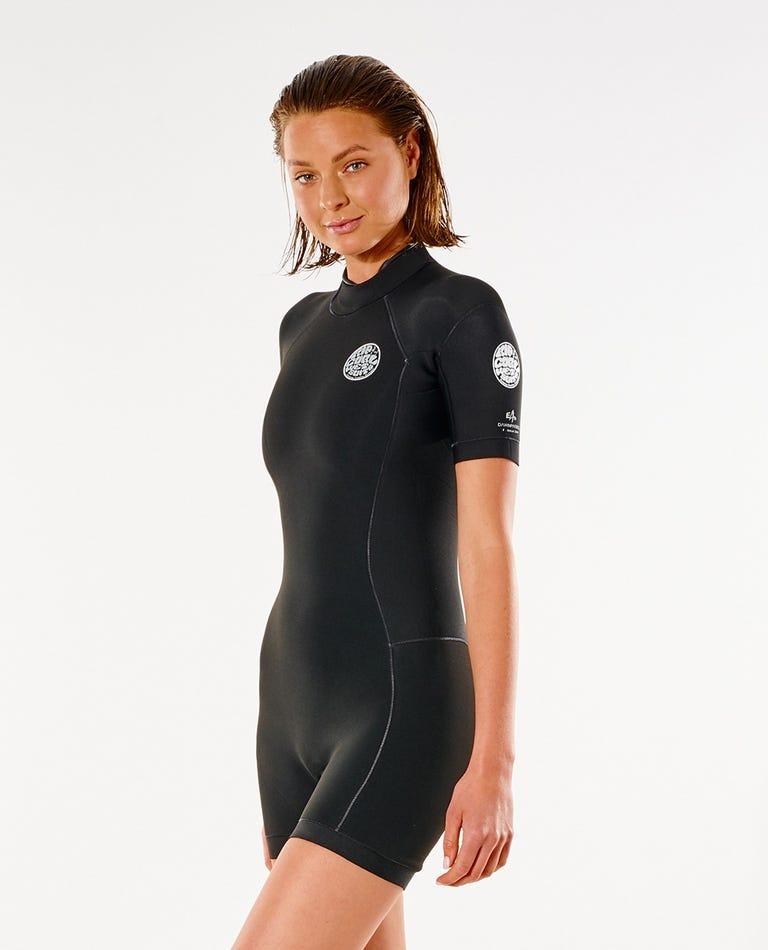 Dawn Patrol S/S Springsuit in Black