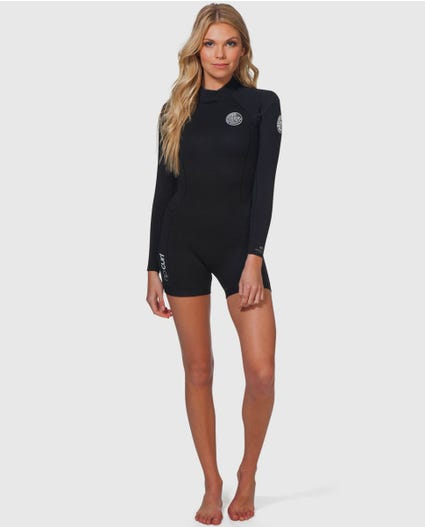 Dawn Patrol L/S Springsuit in Black