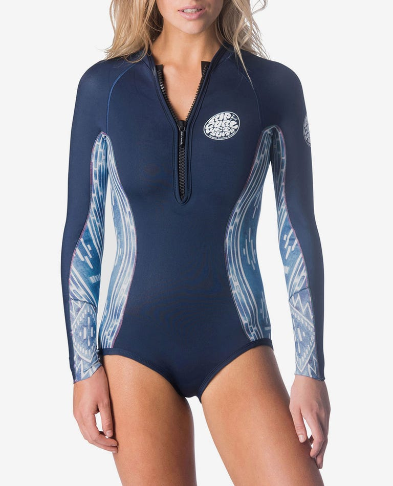 G-Bomb Bikini Cut Springsuit Wetsuit in Blue/White