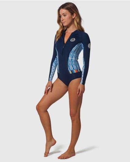 G-Bomb Bikini Cut Springsuit Wetsuit in Blue