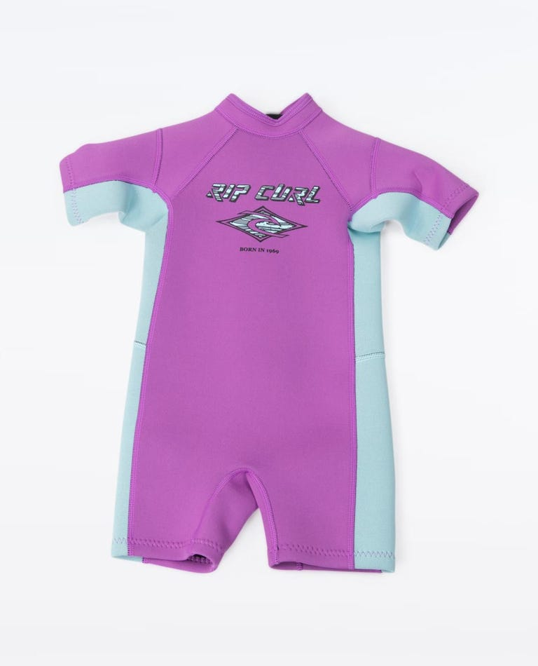 Groms 1.5mm Omega Short Sleeve Spring Suit in Purple