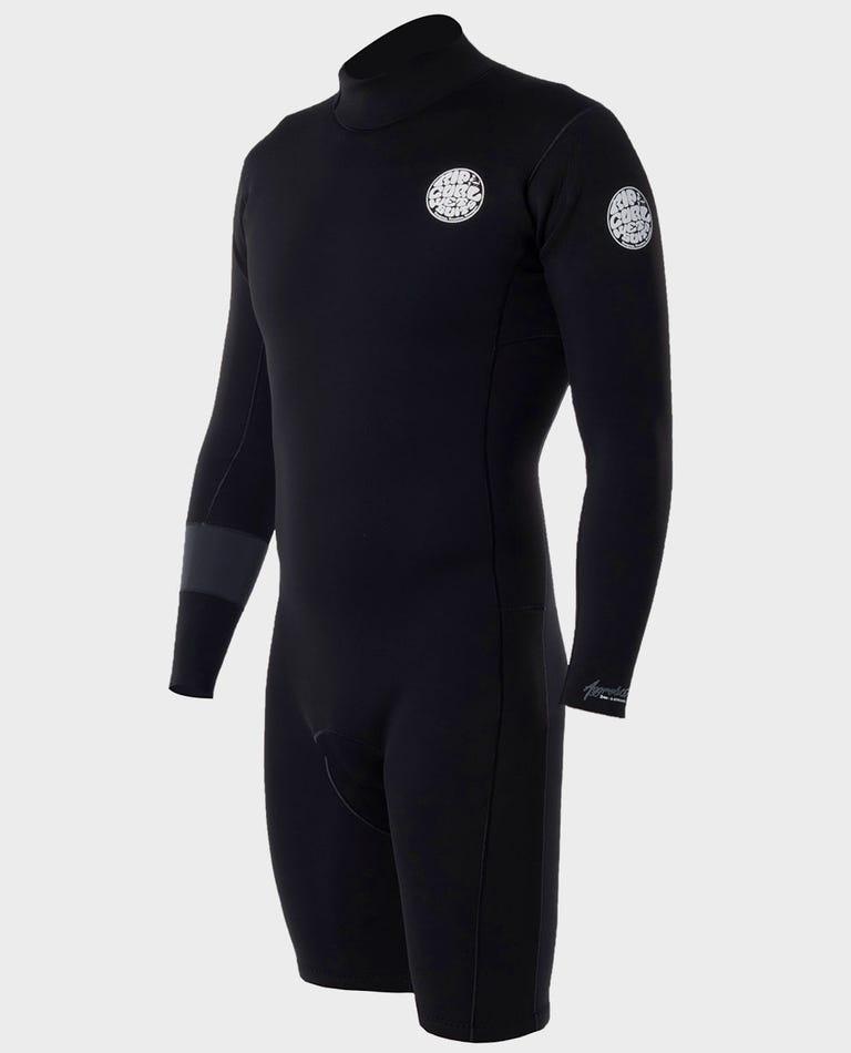 Aggrolite Long Sleeve Back Zip Springsuit Wetsuit in Black