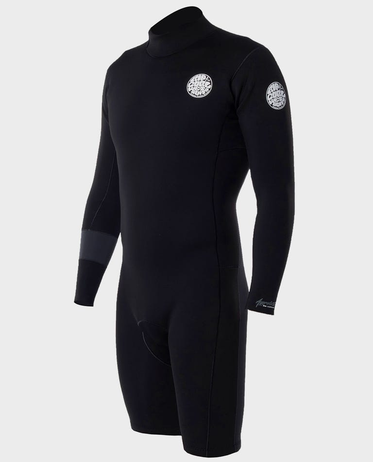 Aggrolite Long Sleeve Back Zip Springsuit Wetsuit in Black