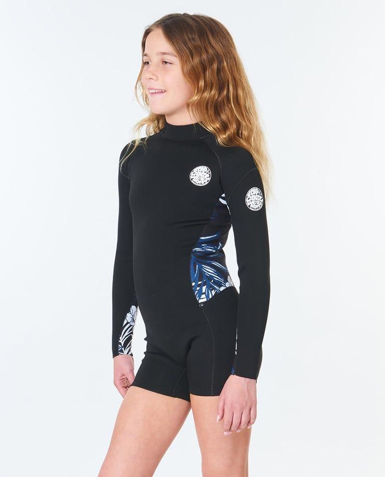 Junior Girl Dawn Patrol Long Sleeve Wetsuit Spring in Black/Navy