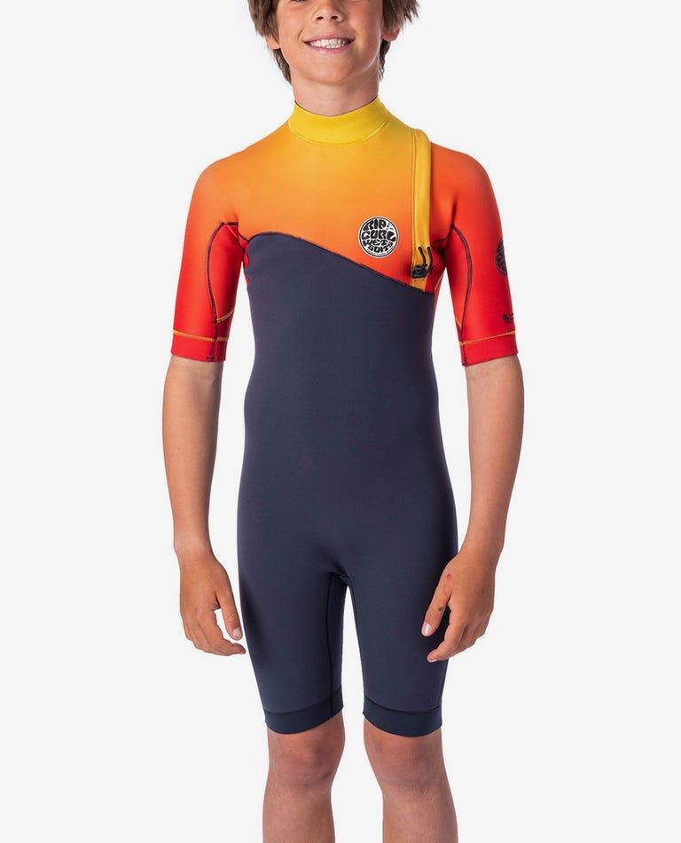 Junior E-Bomb 2/2mm Zip Free Wetsuit Spring in Orange