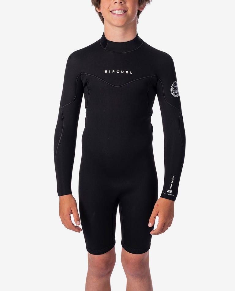 Boys 2mm Dawn Patrol Long Sleeve Spring Suit in Black