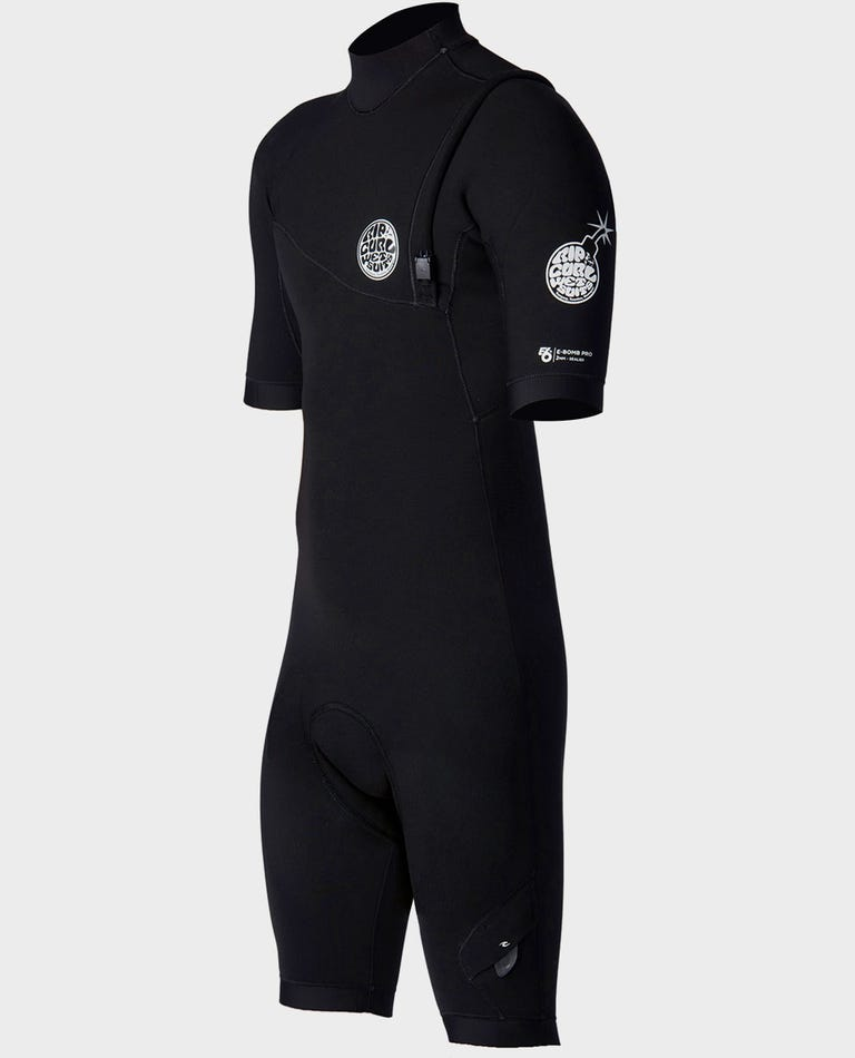 E-Bomb S/S Spring Suit Zip Free Wetsuit in Black