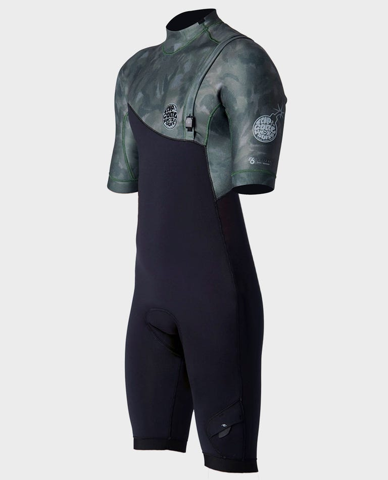 E-Bomb S/S Spring Suit Zip Free Wetsuit in Camo