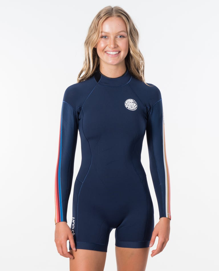 Womens Dawn Patrol L/S Spring Wetsuit in Stripe Pack