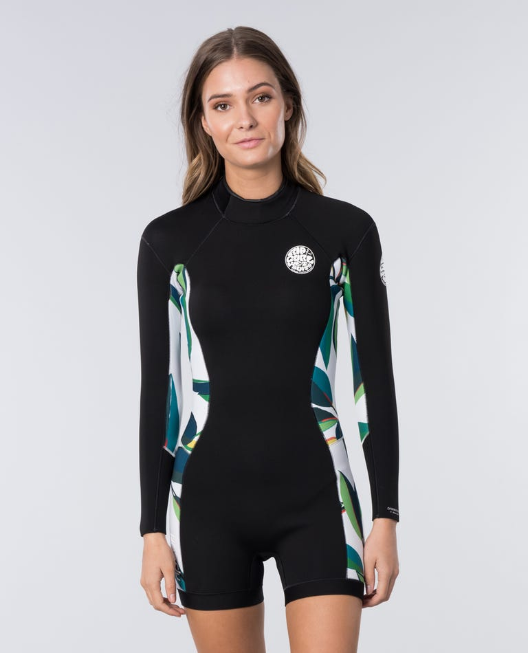 Womens Dawn Patrol L/S Spring Wetsuit in White/Black