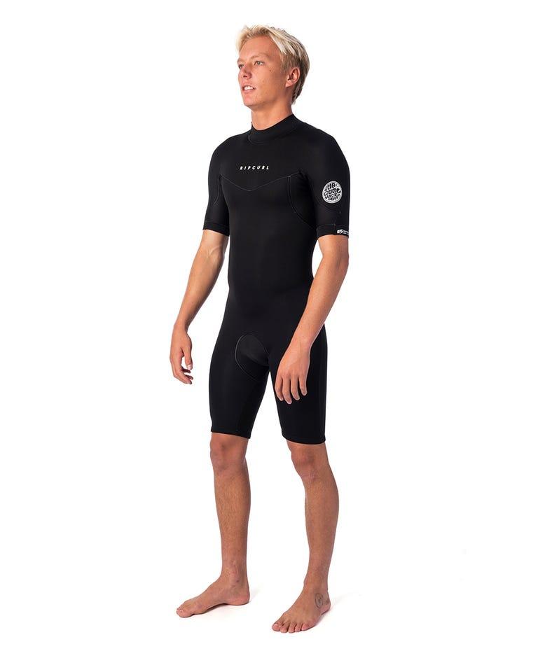 Dawn Patrol 2mm Back Zip Spring Suit in Black