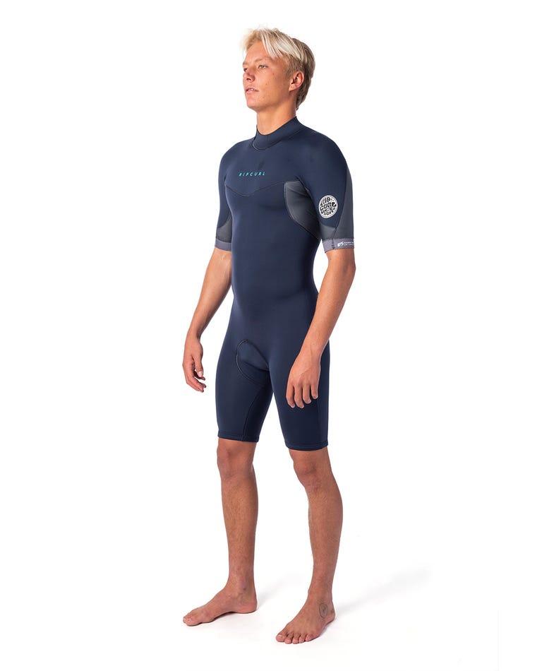 Dawn Patrol 2mm Back Zip Spring Suit in Slate