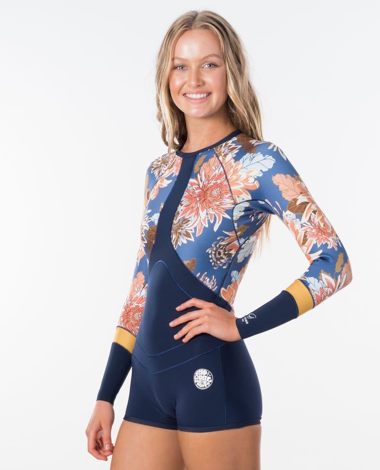 Madi Boyleg Long Sleeve Spring Suit in Navy