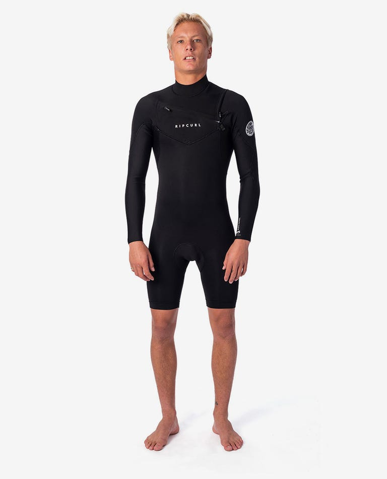 Dawn Patrol 2mm Long Sleeve Chest Zip Spring Suit in Black