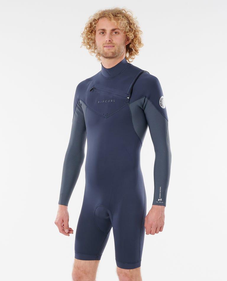 Dawn Patrol 2/2 Chest Zip Long Sleeve Eco Springsuit Wetsuit in Slate