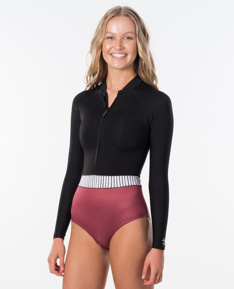 Searchers Long Sleeve Spring Suit Wetsuit in Rust