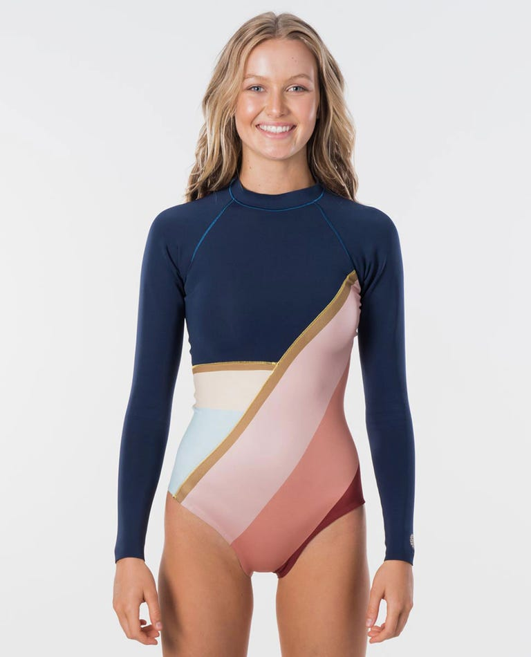 G-Bomb Cheeky Coverage Long Sleeve 1mm Spring Suit in Navy