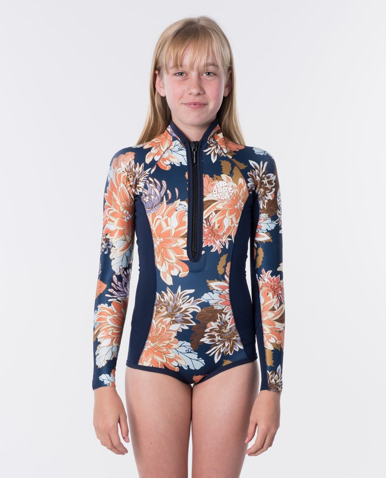 Junior Girls G-Bomb Long Sleeve Springsuit Wetsuit in Navy