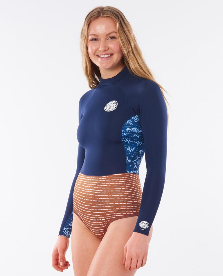 G-Bomb Long Sleeve Back Zip 1mm Spring Suit in Mid Blue