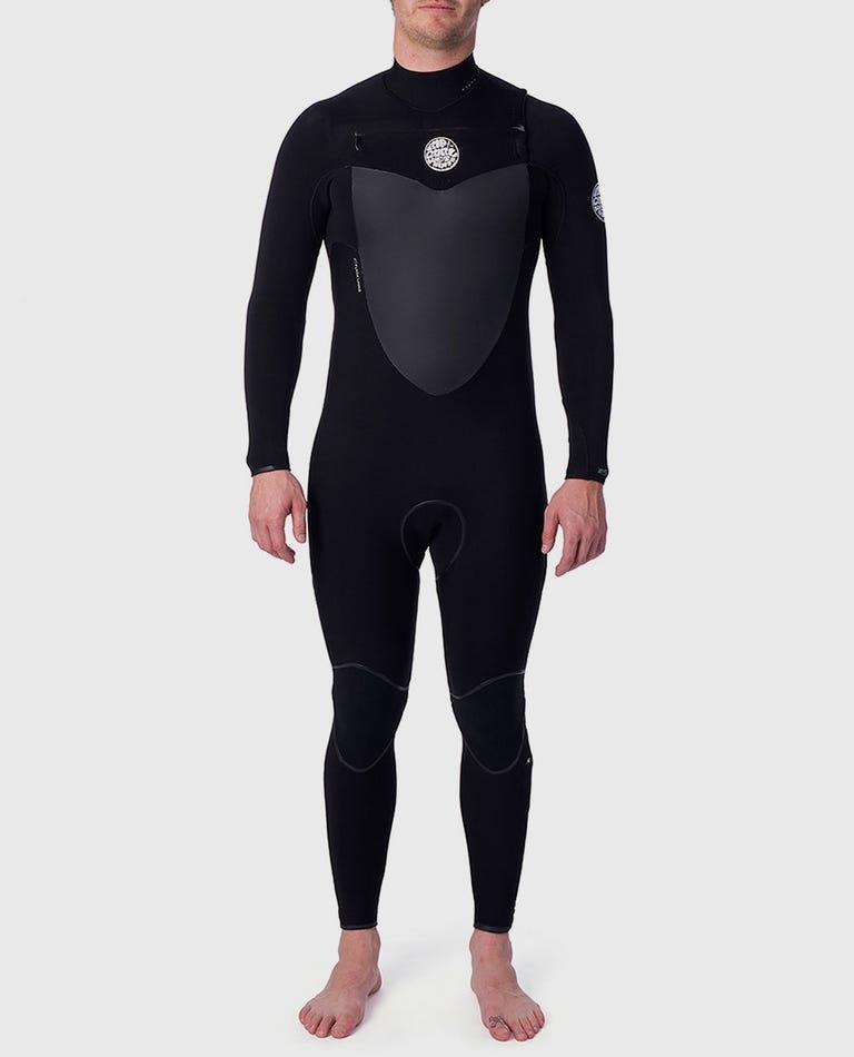 Flashbomb 5/3mm Chest Zip Wetsuit Steamer in Black