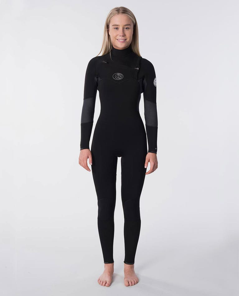 Flashbomb 3/2mm Womens Wetsuit Steamer in Black