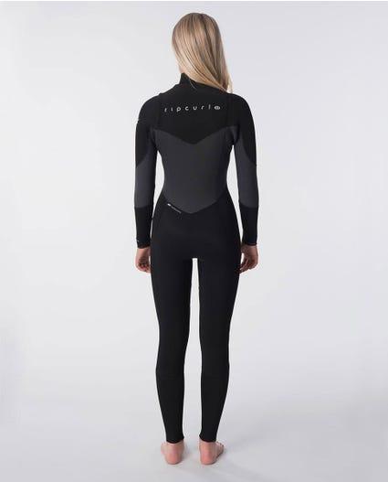 Flashbomb 3/2mm Womens Wetsuit Steamer in Black