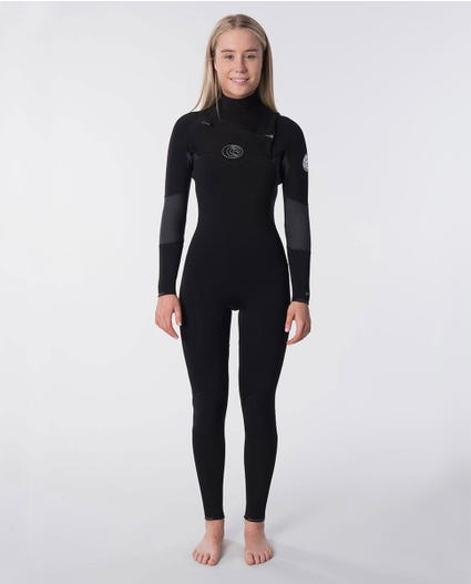 Flashbomb 4/3mm Womens Wetsuit Steamer in Black