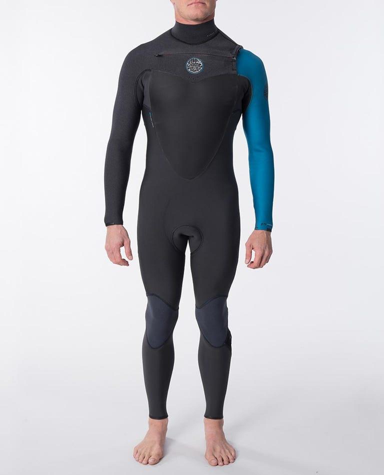 Flashbomb 3/2mm Chest Zip Wetsuit Steamer in Blue