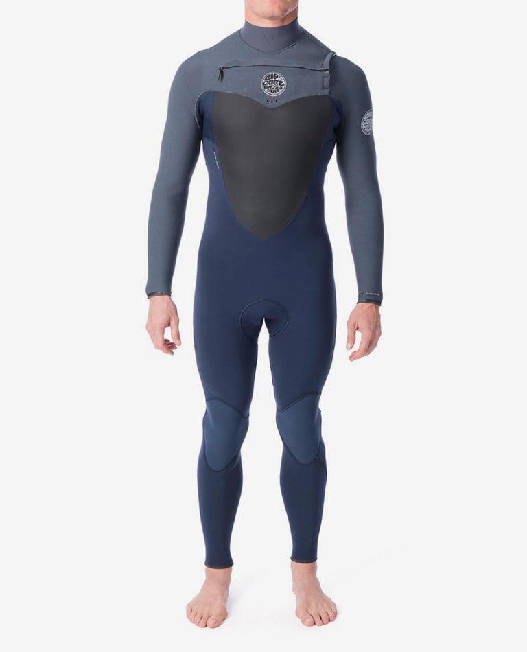 Flashbomb 4/3mm Chest Zip Wetsuit Steamer in Grey