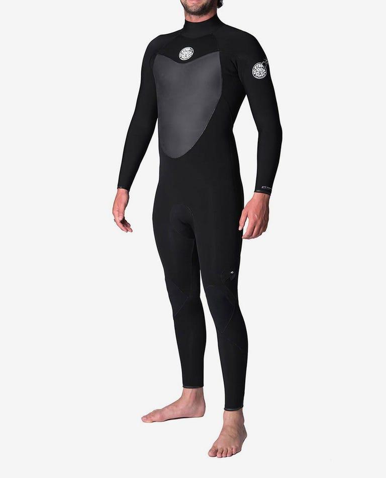 Flashbomb 3/2mm Back Zip Wetsuit Steamer in Black