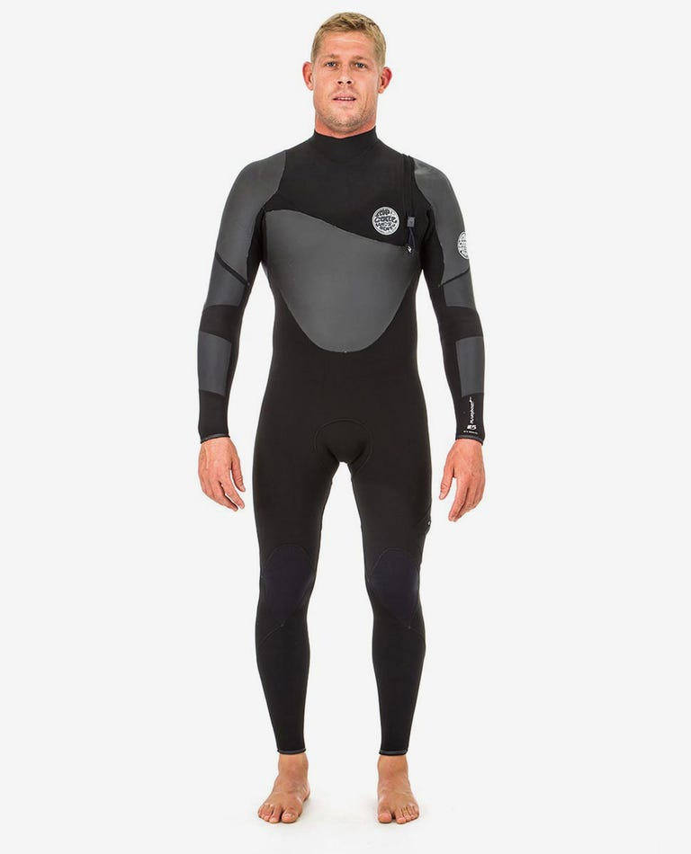 Flashbomb Heat Seeker 3/2mm Zip Free Wetsuit Steamer in Black
