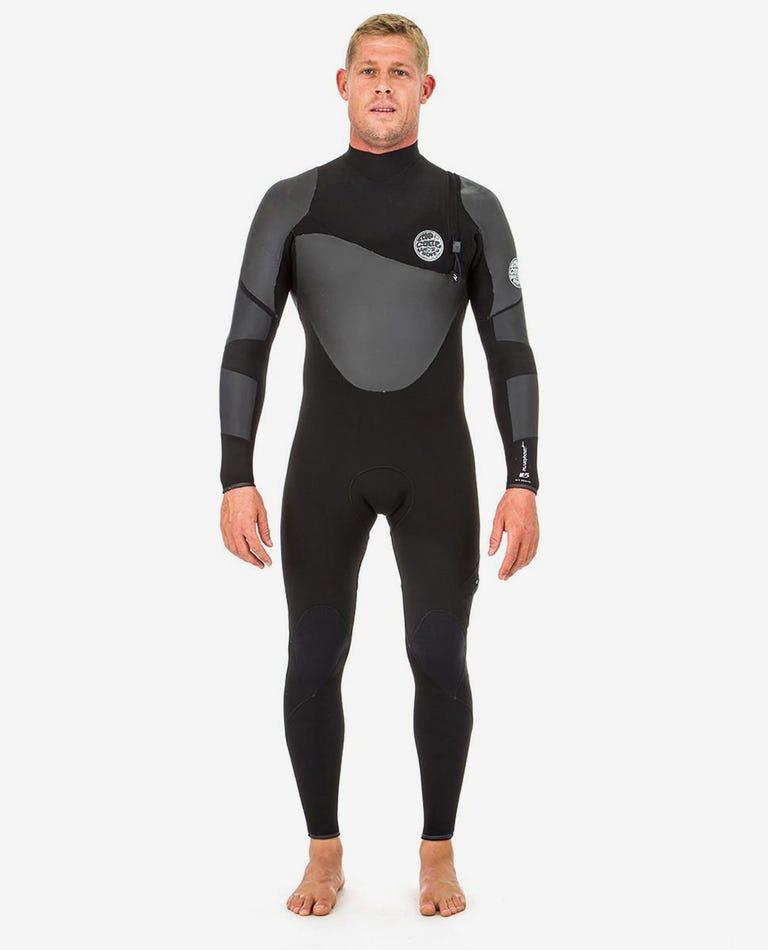 Flashbomb Heat Seeker 4/3mm Zip Free Wetsuit Steamer in Black