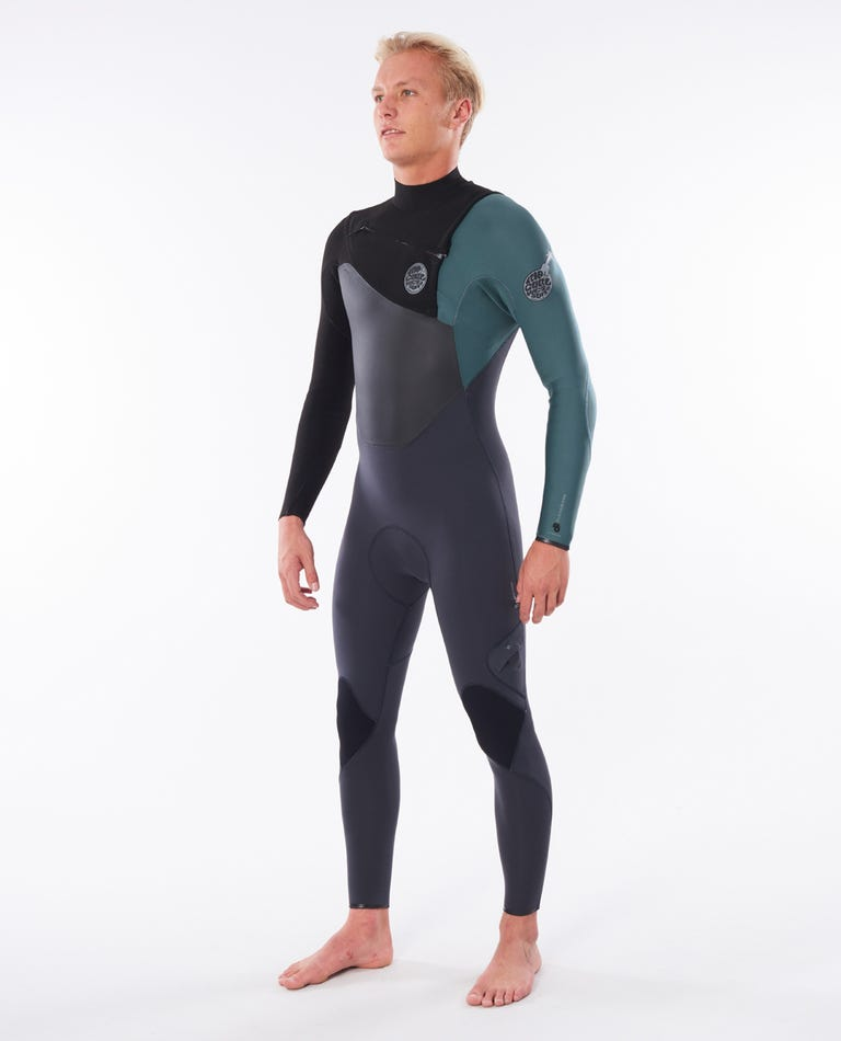 Flashbomb 4/3 Chest Zip Wetsuit in Green